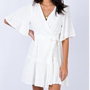Princess Polly DELMARA MINI DRESS WHITE